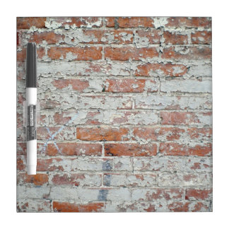 Weathered Brick Wall Dry Erase Board