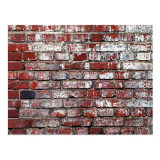 Weathered Brick Wall Pattern Postcard