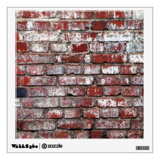Weathered Brick Wall Pattern Wall Decal