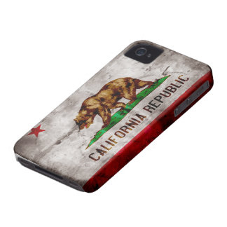 Weathered California Flag Case-Mate iPhone 4 Cases