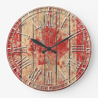 Weathered Canadian Flag Wallclock