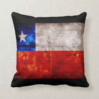 Weathered Chile Flag Throw Pillow