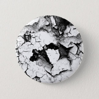 Weathered Cracked and Peeling White Paint 2 Inch Round Button