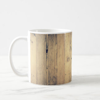 Weathered Distressed Wood Photo Coffee Mug