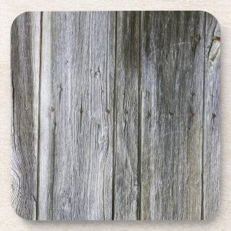 Weathered Door Planks Hard Plastic Coasters