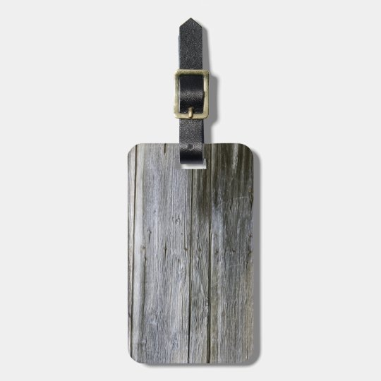 Weathered Door Planks Luggage Tag