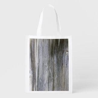 Weathered Door Planks Reusable Bag