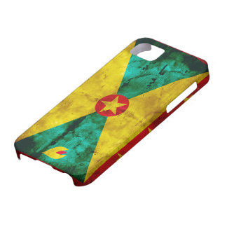 Weathered Grenada Flag iPhone 5 Covers