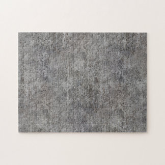 Weathered Grey Cement Sidewalk Jigsaw Puzzle