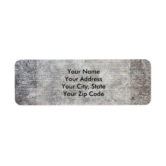 Weathered Grey Cement Sidewalk Return Address Label