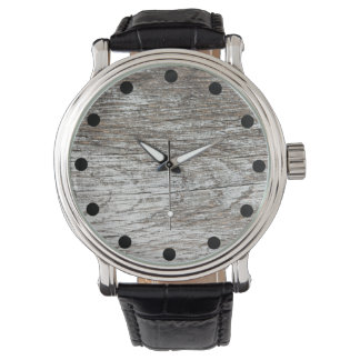 Weathered Grey Paint on Wood Watch