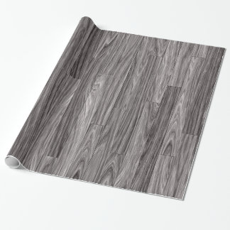 Weathered Grey Wood Planks Texture Wrapping Paper