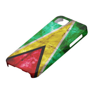 Weathered Guyana Flag iPhone 5 Cases