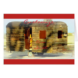 Weathered gypsy caravan Thunder_Cove any color Card