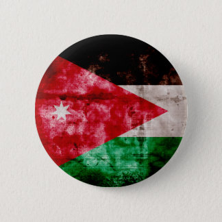 Weathered Jordanian Flag 2 Inch Round Button