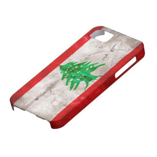 Weathered Lebanon Flag iPhone 5 Cases