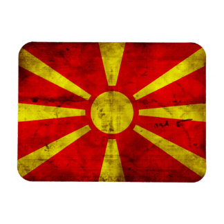 Weathered Macedonia Flag Magnet