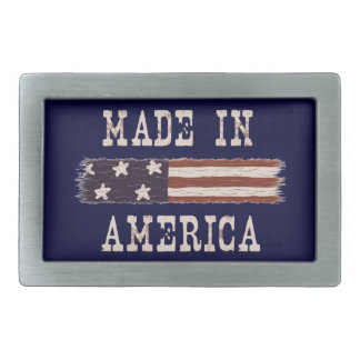 Weathered Made in America Flag Belt Buckle