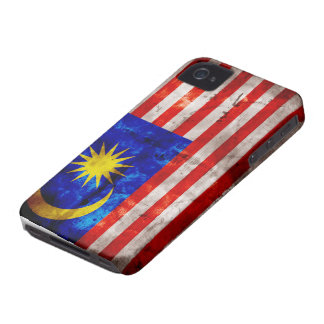 Weathered Malaysia Flag iPhone 4 Case