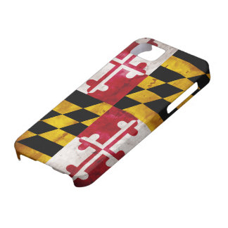 Weathered Maryland Flag Case For The iPhone 5