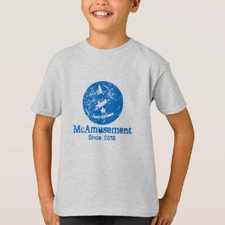 Weathered McAmusement Logo Kids T-Shirt