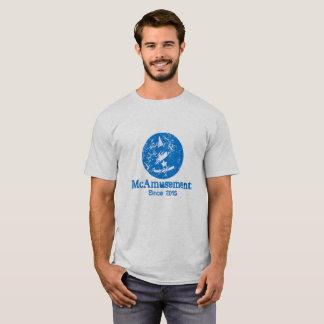 Weathered McAmusement Logo Male T-Shirt