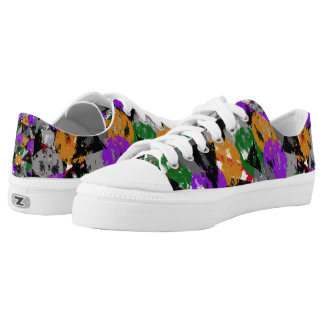 Weathered Multi colored Shape Low-Top Sneakers