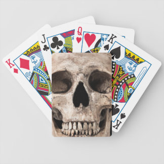 Weathered Old Skull Bicycle Playing Cards