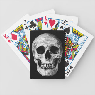 Weathered Old Skull - Black & White Bicycle Playing Cards