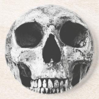 Weathered Old Skull - Black & White Coaster