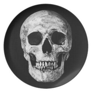 Weathered Old Skull - Black & White Plate