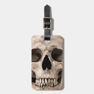 Weathered Old Skull Luggage Tag