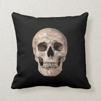 Weathered Old Skull Throw Pillow