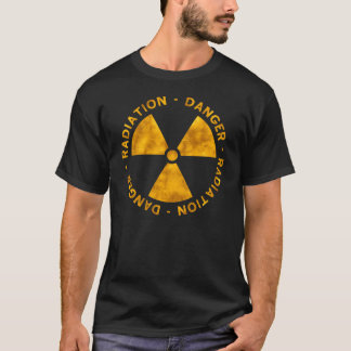 Weathered Orange Radiation Symbol T-Shirt
