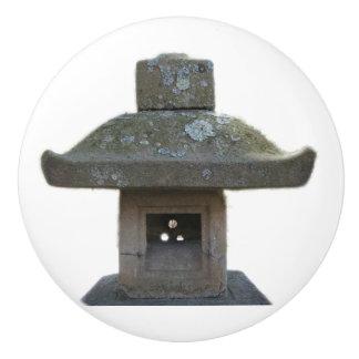 Weathered Pagoda Statue Ceramic Knob