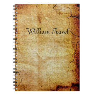Weathered paper notebook