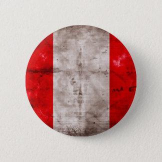 Weathered Peru Flag 2 Inch Round Button