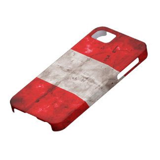 Weathered Peru Flag Case For The iPhone 5