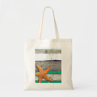 Weathered Plank Beach Board Rustic Tote Bag