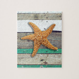 Weathered plank beach rustic seashore jigsaw puzzle