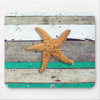 Weathered plank beach rustic seashore mouse pad