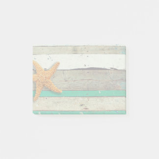 Weathered plank beach rustic seashore post-it notes