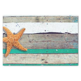 Weathered plank beach rustic seashore tissue paper
