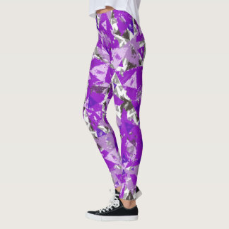 Weathered Purple Triangle Leggings