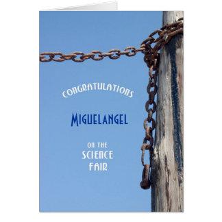 Weathered Pylon & Chain - Congrats Science Fair Card