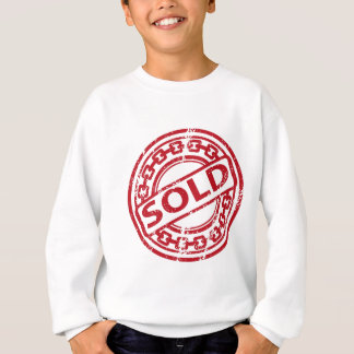 Weathered Red Sold Chain Stamp Effect Sweatshirt