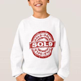 Weathered Red Sold Star Stamp Effect Sweatshirt
