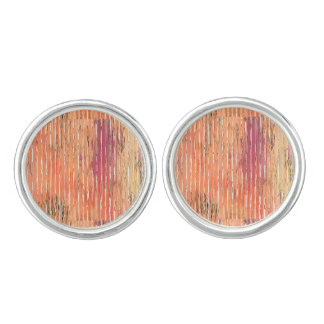 Weathered Reed Blinds round cufflinks