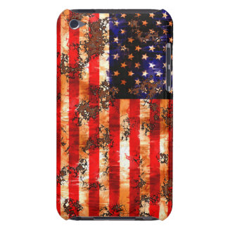 Weathered Rusty American Flag Barely There iPod Case