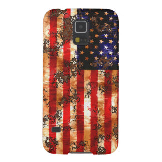Weathered Rusty American Flag Case For Galaxy S5